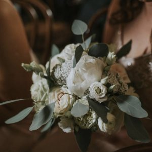 Bridesmaids Bouquet with white spring wedding flowers