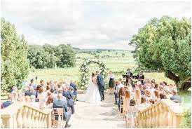OUtdoor wedding ceremony at Woodhill Hall Northumberland